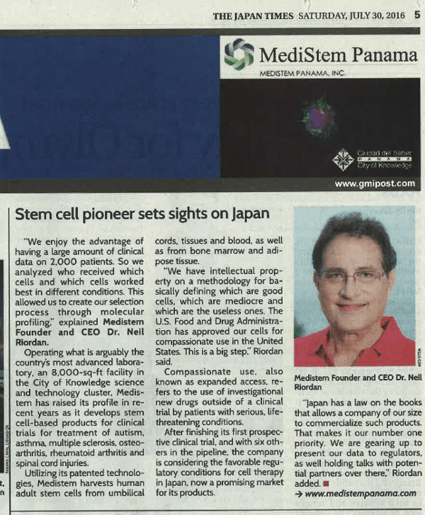 Image of Japan Times Article