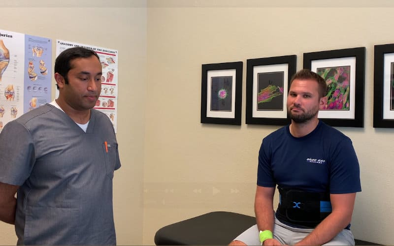 Image of Dr Ozarkar with Ryan Back Pain Patient
